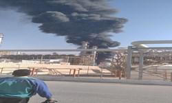 آتش سوزی در پتروشیمی ایلام/ نیروهای آتش نشانی در حال اطفای حریق
