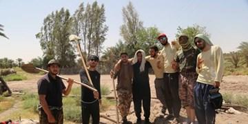 مشارکت در ساخت مسکن برای محرومان در قالب پویش «هر خشت به نیت یک شهید» در لارستان