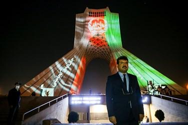 حضور عبدالغفور لیوال سفیر افغانستان در مراسم نورپردازی برج آزادی