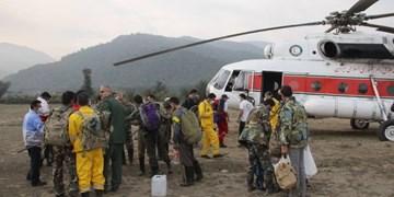 درخواست یک بالگرد جدید برای مهار آتش توسکستان/ تلاشها ادامه دارد