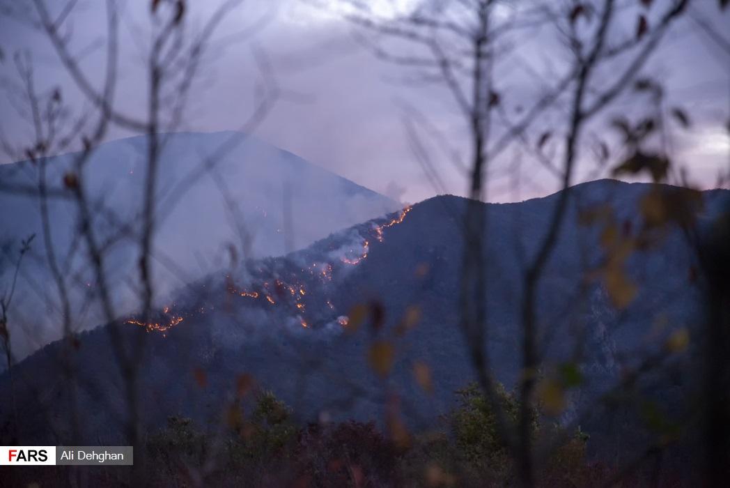 حریق جنگل توسکتان گلستان