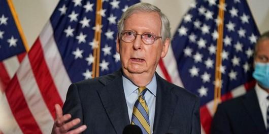 رهبر اکثریت سنا درباره خروج بزرگ نظامیان آمریکا از عراق یا افغانستان هشدار داد