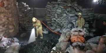 آتشسوزی انبار ذغال در جاده ورامین