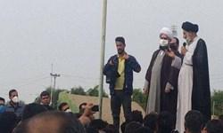 حضور نماینده ولی فقیه در خوزستان در شرکت نیشکر هفتتپه