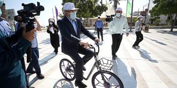 با حضور بانک انجام شد؛ بهرهبرداری از  ایستگاههای دوچرخه هوشمند در کیش