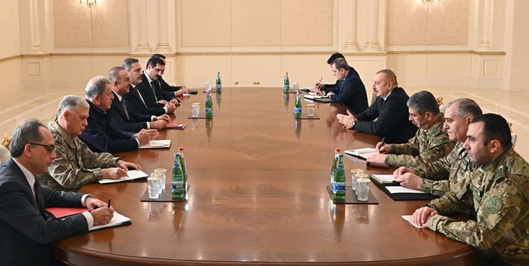 دیدار مسئولان ارشد ترکیهای با رئیسجمهور آذربایجان در باکو