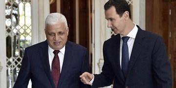 رئیس الحشد الشعبی عراق به دیدار رئیس جمهور سوریه رفت