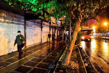 تهران بعد از ساعت ۱۸ خیابان جمهوری