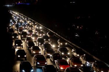 ترافیک ساعت 18  تهران اتوبان همت غرب