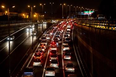 ترافیک ساعت 18  تهران پل نصر