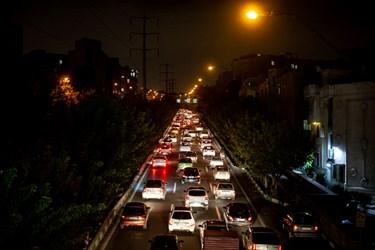 ترافیک ساعت 18  تهران اتوبان کردستان شمال