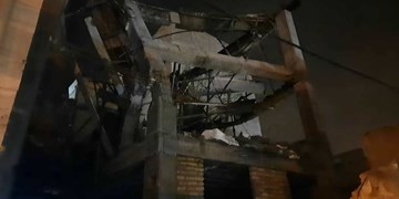 آوار ساختمان در حال ساخت ۲ نفر را مصدوم کرد