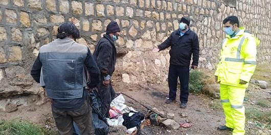 انتقال معتادان متجاهر شیراز در مسیلهای پرخطر به مراکز بهزیستی