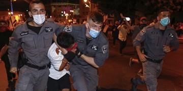 درگیری پلیس رژیم صهیونیستی با تظاهراتکنندگان علیه نتانیاهو