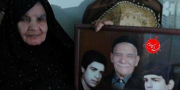 مادر شهیدان رضازاده لواف به فرزندان شهیدش پیوست