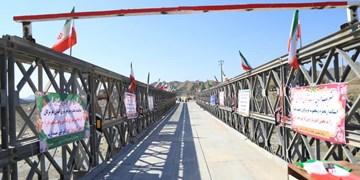 افتتاح پل موقت «جگین» و کلنگزنی جاده دولتآباد در بشاگرد+عکس
