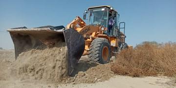 ۳۷۵۰ مترمربع از اراضی روستای زیرانگ قشم رفع تصرف شد
