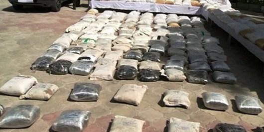 کشف بیش از 100 کیلوگرم انواع مواد مخدر توسط مرزبانان خراسان رضوی