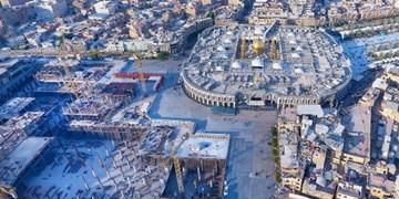 پیشرفت ۲۵ درصدی صحن حضرت زینب با وجود کاهش نیروهای بازسازی عتبات