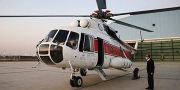 استقرار بالگرد امدادی در پایگاه امداد هوایی هلال احمر یزد