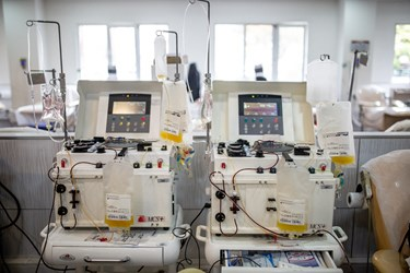 تجهیزات مربوط به ذخیره خون در پایگاه مرکزی سازمان انتقال خون