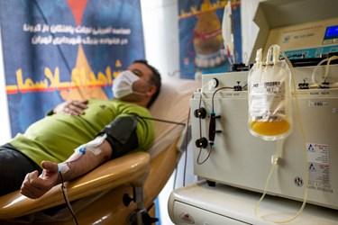 بخش اهدای پلاسمای پایگاه مرکزی سازمان انتقال خون