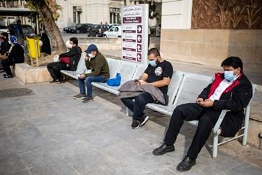 انتظار مراجعه کنندگان برای اهدای خون