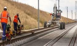 ریلگذاری ۵۰ کیلومتر از پروژه راه آهن اردبیل - میانه