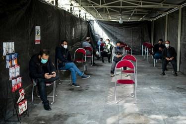 سالن انتظار مراجعه کنندگان برای اهدای خون