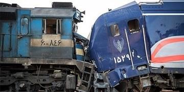 برخورد 2 قطار باری و مسافری در مسیر قزوین رشت