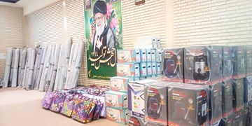 اهدای ۷۵ دست جهیزیه به نوعروسان خلخالی بهمناسبت هفته بسیج