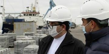 بازدید سفیر ایران از بندر هوسان در باکو