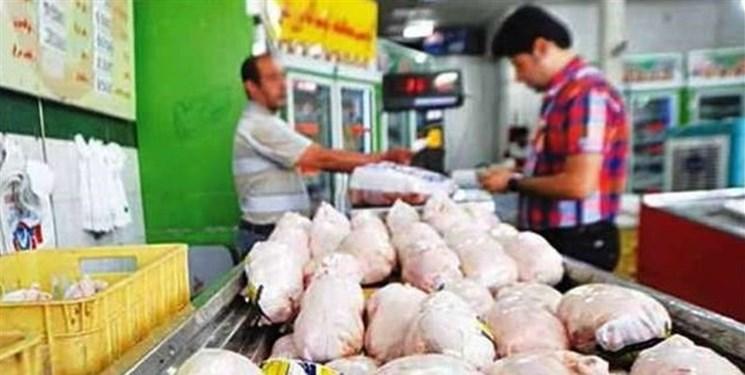 توزیع مرغ در میادین میوه و ترهبار با ماشینهای ترازودار