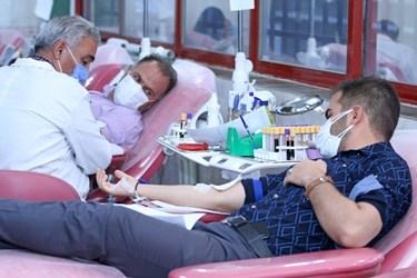اهدای خون به مناسبت هفته بسیج