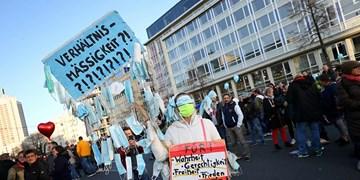 اعتراض به محدودیتهای کرونایی در آلمان