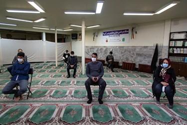 مراجعه کنندگان طرح غربالگری در مسجد ریحان