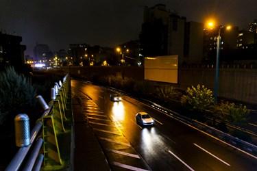 بزرگراه کردستان پس از ممنوعیت عبور و مرور ساعت 21