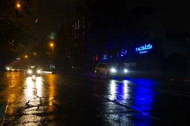 خیابان شریعتی پس از ممنوعیت عبور و مرور ساعت 21