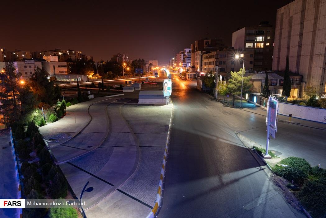 معالی آباد، شیراز پس از ممنوعیت عبور و مرور ساعت 21