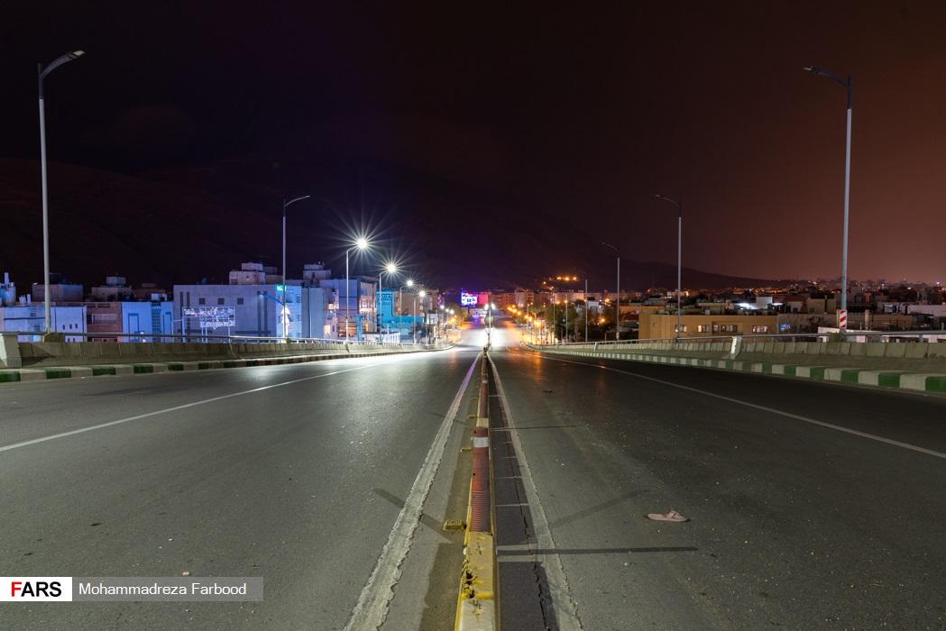 پل معلم، شیراز به سمت فرهنگ شهر پس از ممنوعیت عبور و مرور ساعت 21