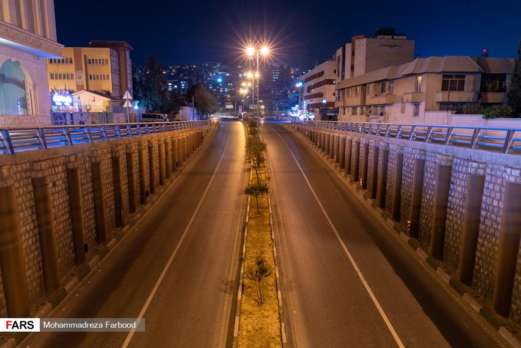 پل زرگری، شیراز پس از ممنوعیت عبور و مرور ساعت 21