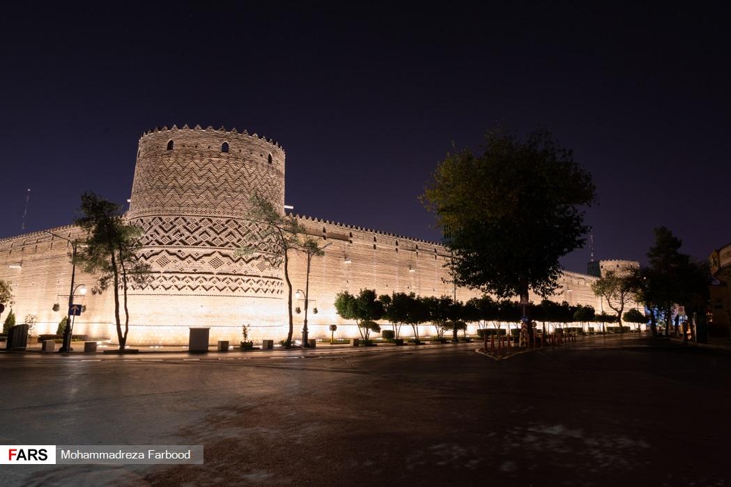 خیابان ناصر خسرو، شیراز پس از ممنوعیت عبور و مرور ساعت 21