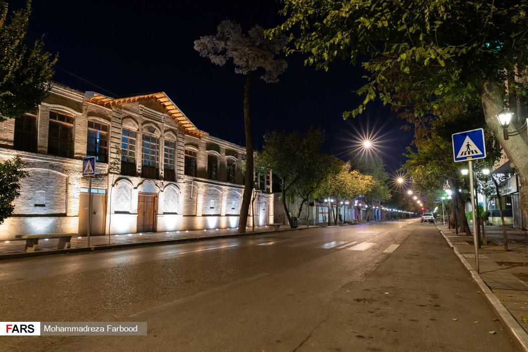 خیابان 22 بهمن، شیراز پس از ممنوعیت عبور و مرور ساعت 21