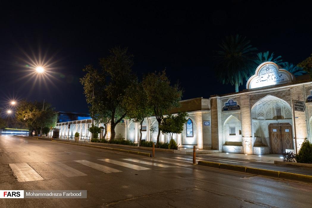 خیابان لطفعلی خان زند، شیراز پس از ممنوعیت عبور و مرور ساعت 21