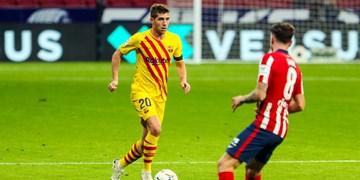 بارسلونا مدت زمان دوری مدافع خود را اعلام کرد