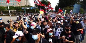 تظاهرات دهها هزار نفری در اعتراض به نقض آزادی بیان در تایوان