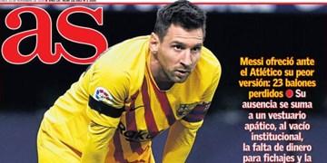 نگاهی به مطبوعات اسپانیا | هیچ اثری از مسی در بارسا نیست / منتظر معجزه در مادرید باشید