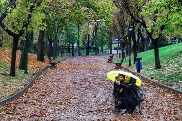 بارش باران پاییزی در پایتخت