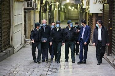 بازدید رئیس پلیس پایتخت از بازار