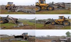 قلع و قمع ۱۱ هزار متر مربع اراضی تفکیکی غیرمجاز در فریدونکنار